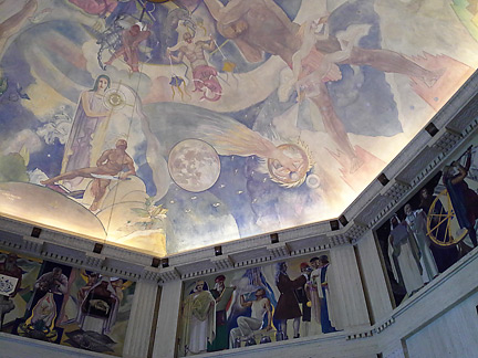 Looking up griffith observatory murals artissima blog for Constellation ceiling mural